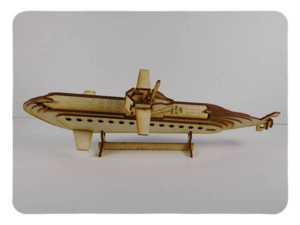 Wood Model Submarine Kit By-LazerModels