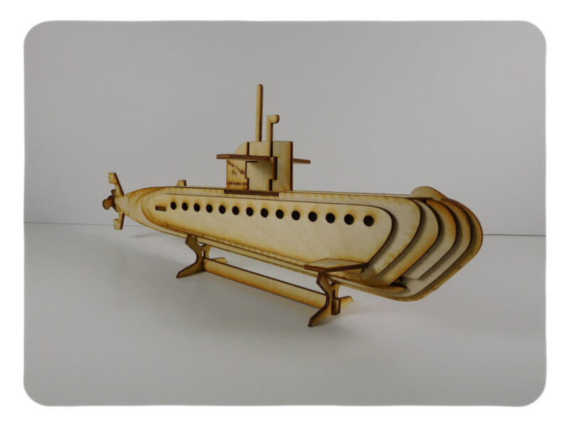 Wood Model Submarine Kit By-LazerModels