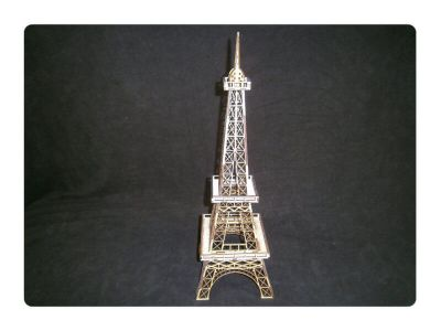 Wood Model Eiffel Tower Kit By-LazerModels