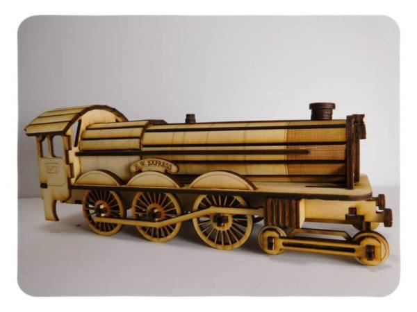 Wood Model HW Express and Coal Car Kit By-LazerModels