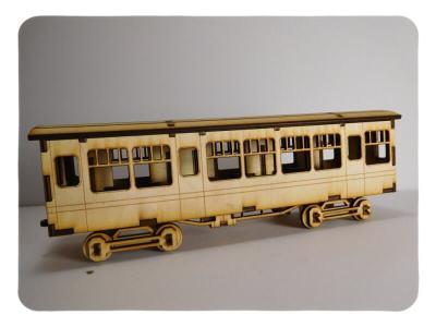 Wood Model HW Express Passenger Car Kit By-LazerModels