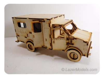 Wood Models By LazerModels Best Wood Model Kits Ambulance