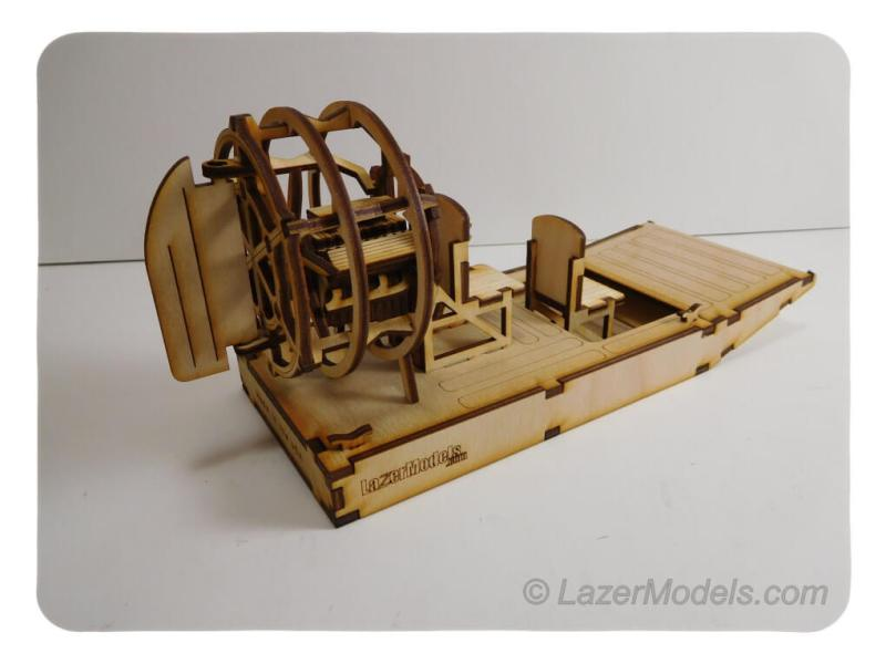 Wood Model Air Boat Kit By-LazerModels