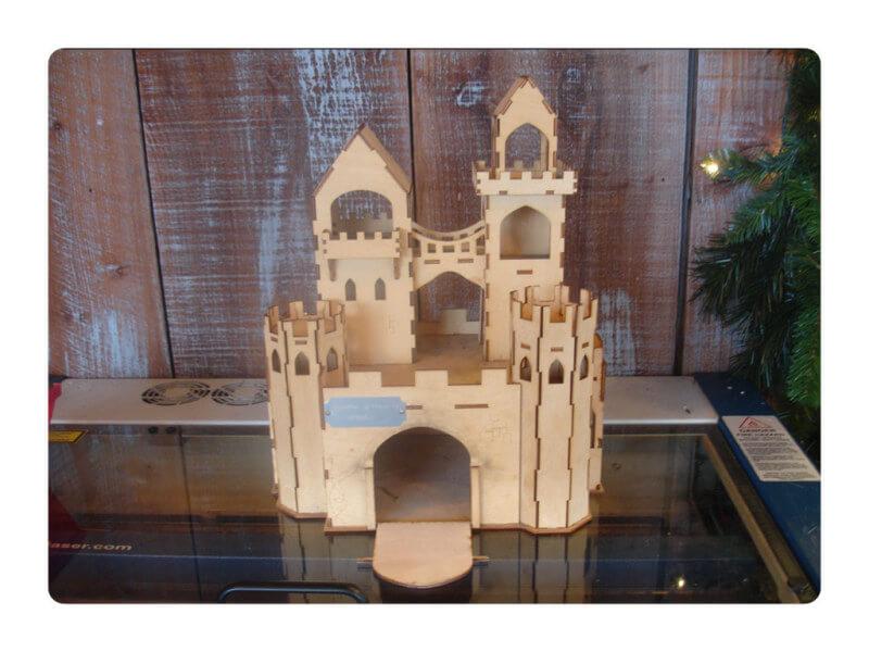 Wood Model Castle Kit By-LazerModels