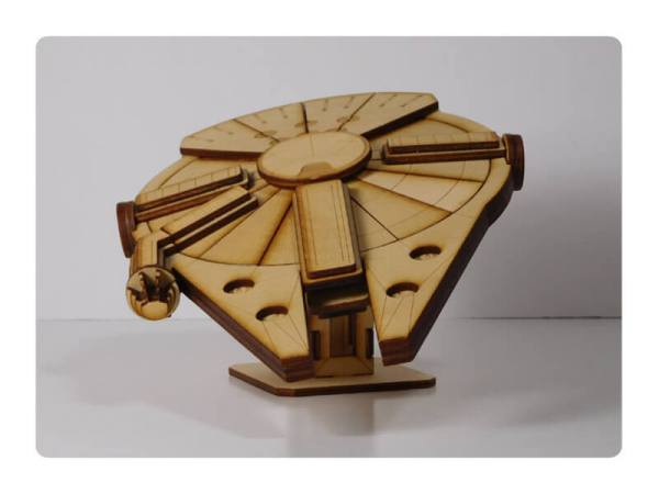 Wood Model Falcon-1 Kit By-LazerModels