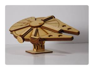 Wood Model Falcon-1 Kit By-LazerModels