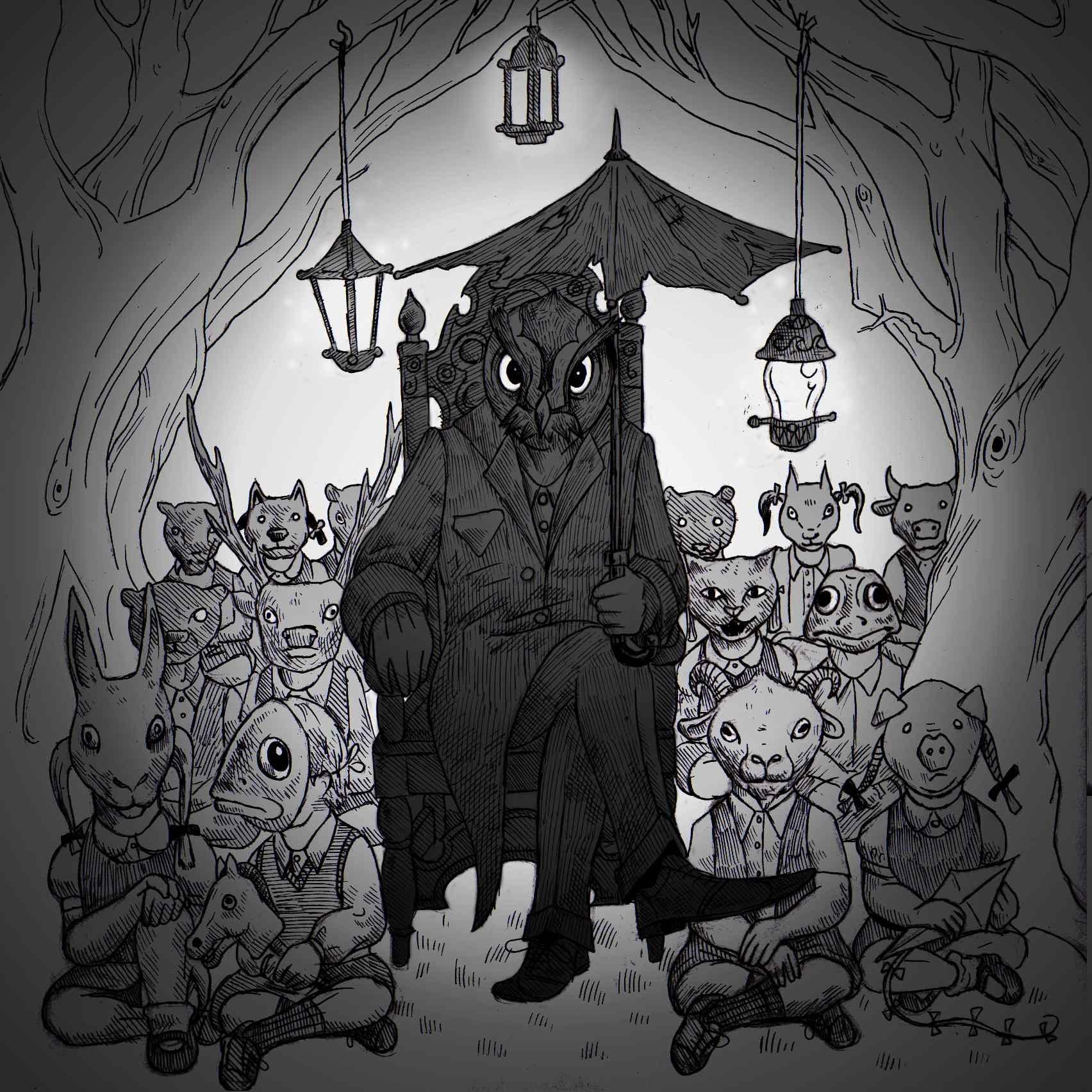 Nightjars cover art by Sam Garrett