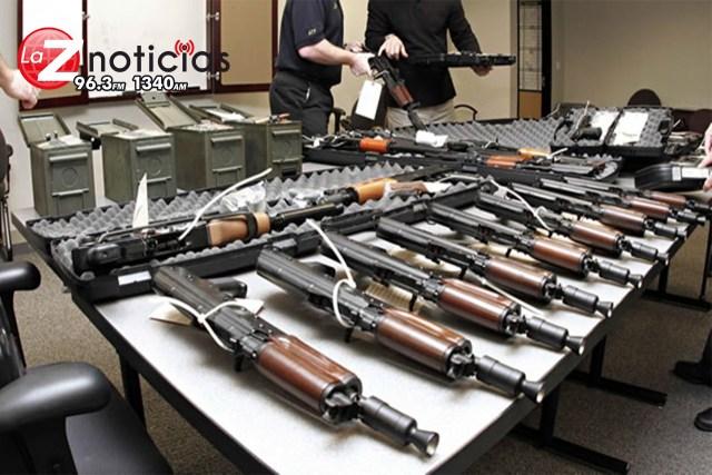 Llegan a México al año 213 mil armas; contrabando ilegal desde EU
