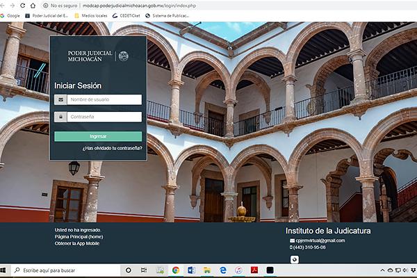 Poder Judicial de Michoacán da continuidad a cursos y concursos a través de plataforma digital