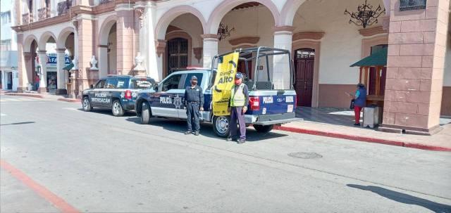 Instalan Bandera Amarilla en Ciudad Hidalgo; se exhorta a extremar precauciones