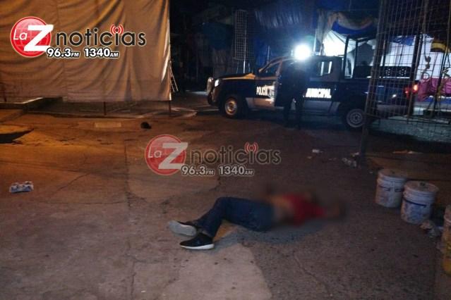 Joven comerciante es ultimado a tiros cerca del Mercado Hidalgo