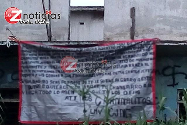 Por tercera ocasión en menos de 10 días localizan narcomantas en Zamora