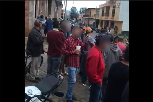 El presidente de Purépero negó que las imágenes que circuló la secretaria de salud correspondan a la fiesta patronal del pueblo