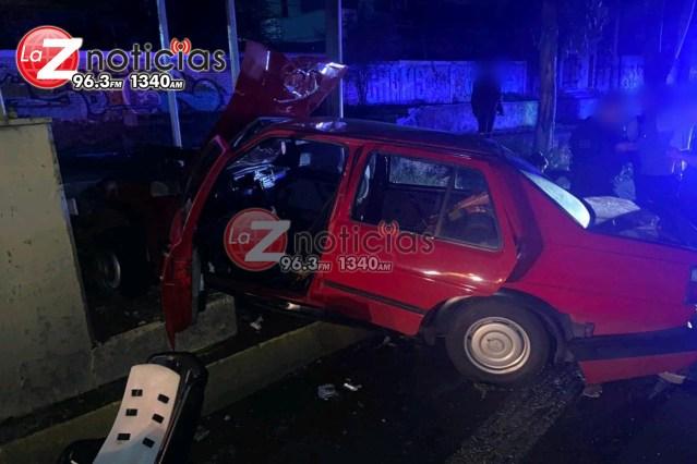Accidente automovilístico deja 3 niños heridos al poniente de Morelia