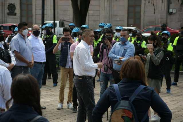 Con participación de Policía Morelia, refuerza Ayuntamiento brigadas de inspectores sanitarios