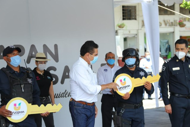 Fortalecen estrategia de seguridad en Uruapan