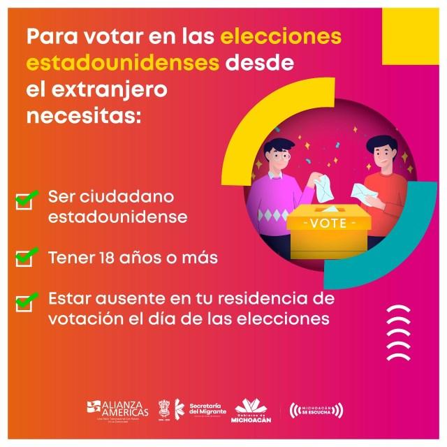 Orienta Gobierno de Michoacán a migrantes sobre sus derechos políticos en EU