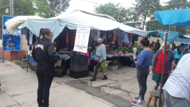 Gobierno de Morelia supervisa cumplimiento de recomendaciones sanitarias en tianguis