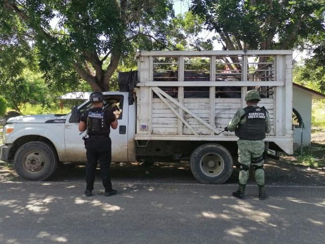Recuperan SSP y Seneda vehículo con reporte de robo, en San Lucas