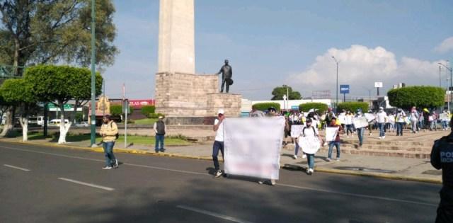 Despliega SSP dispositivo de vigilancia ante manifestación, en Morelia