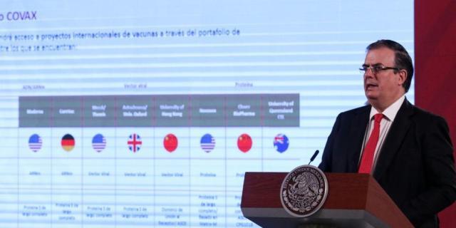 Con mecanismo Covax, México accederá a 51 millones de dosis de vacunas antiCOVID: SRE