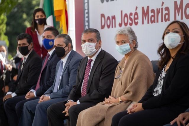 Encabezan secretaria Olga Sánchez Cordero y Raúl Morón, Ceremonia Cívica Conmemorativa del CCLV Aniversario del Natalicio de Morelos