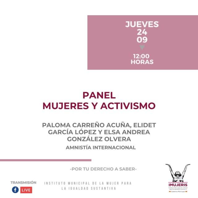 Transmite IMUJERIS programación en línea por los Derechos de las Mujeres