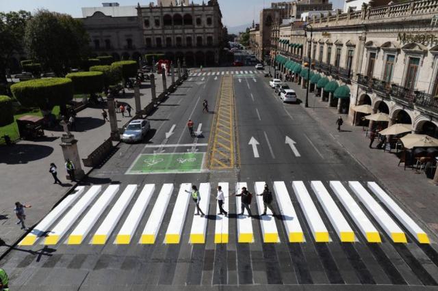 Gobierno de Morelia promueve seguridad vial, interviene cruce seguro 3D en el Centro