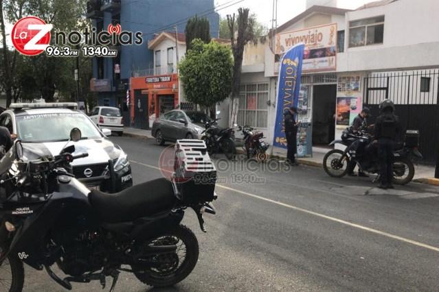 Asaltan agencia de viajes en la Nueva Chapultepec, Morelia