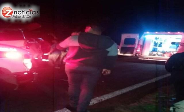 Un muerto y seis lesionados por accidente vial en San Juan Nuevo