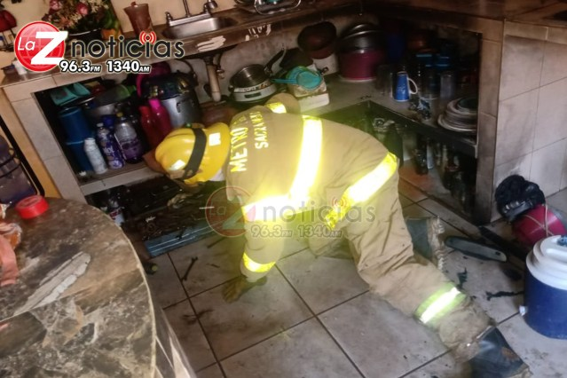 Mujer sufre accidente mientras cocinaba y resulta con quemaduras