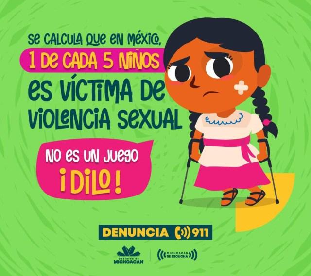 No callar ante la violencia infantil, llamado del Gobierno del Estado