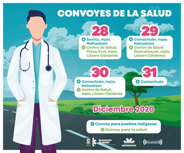 Brinda SSM servicios médicos gratuitos a través de Convoyes de la Salud y Pueblos Indígenas