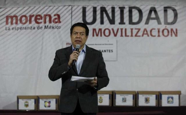 En Morena no se lucha por cargos: Delgado a aspirantes que cuestionan encuestas