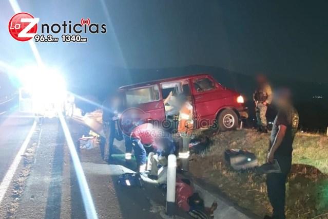 Choque entre 2 vehículos deja 4 heridos en la Autopista de Occidente