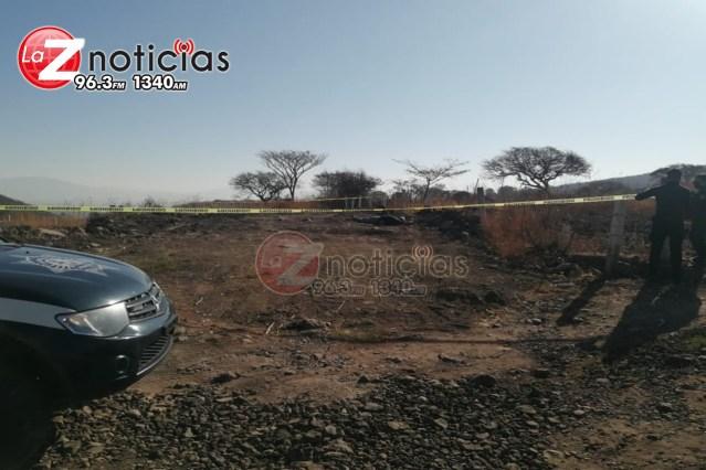 Quincuagenario es hallado asesinado en predio de Tangancícuaro