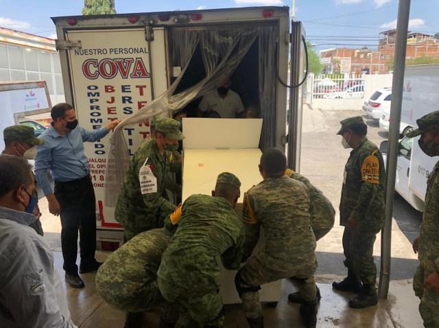 Llegan a Michoacán 33,600 vacunas contra COVID-19
