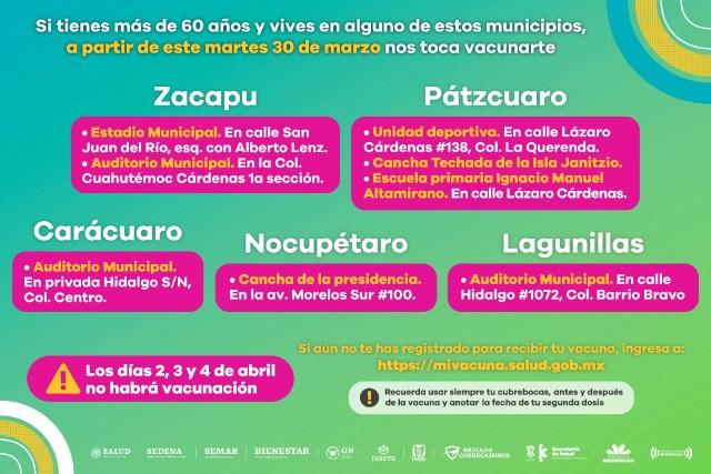 Inicia vacunación contra COVID-19 en 27 municipios este martes