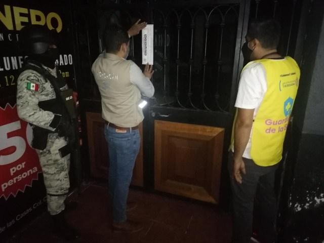Suspenden Guardianes de la Salud seis establecimientos nocturnos en Morelia