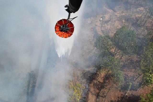 Controlado y en fase de liquidación el incendio en el Cerro de San Marcos, en Uruapan