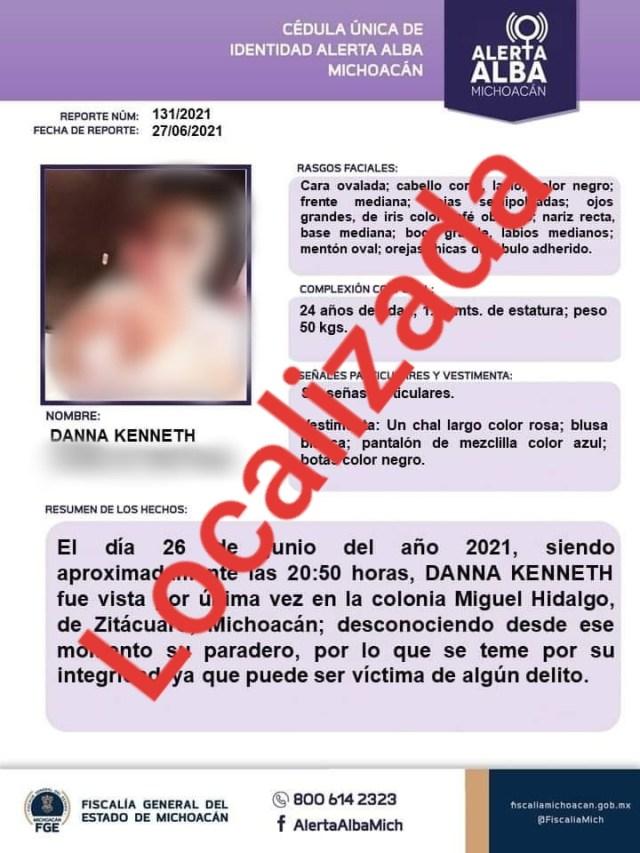 Hallan muerta a joven reportada como desaparecida en Zitácuaro