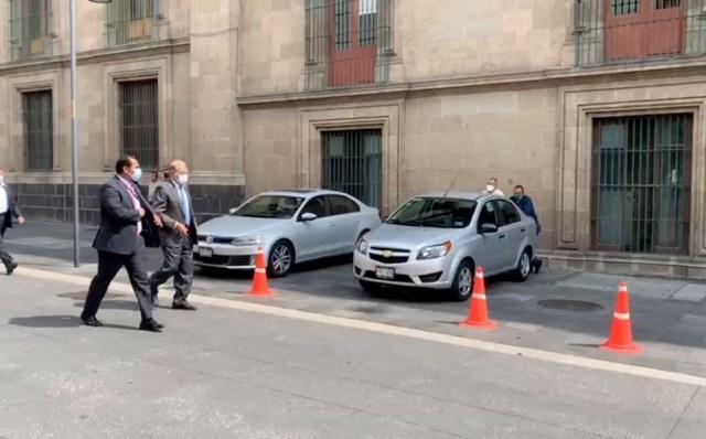 Carlos Slim y Sheinbaum se reúnen con AMLO en Palacio Nacional