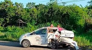 Chocan auto particular y taxi
