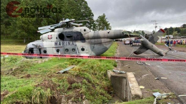 Helicóptero en el que viajaba secretario de Gobierno de Veracruz se desploma