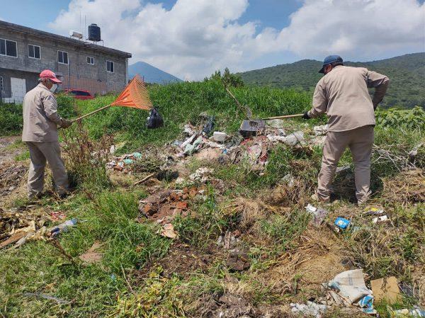 Cuadrilla de Aseo Jacona redobla trabajos en colonias