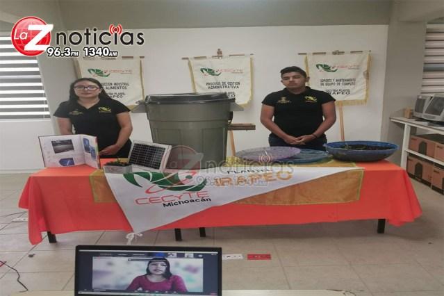Alumnos del CECyTEM plantel Irapeo ganan preseas en feria de ciencias