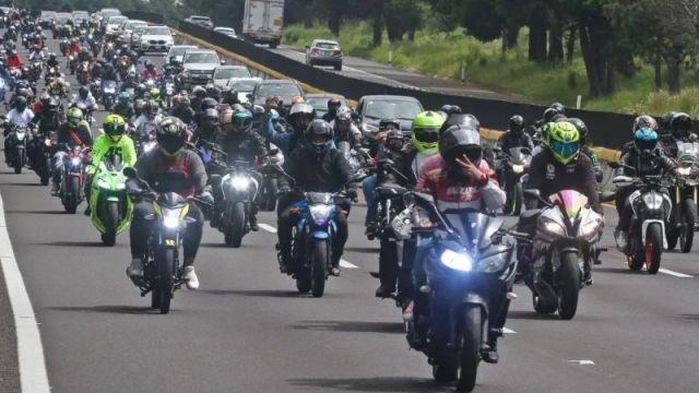 Así fue la rodada en memoria de los motociclistas que fallecieron en la México-Cuernavaca