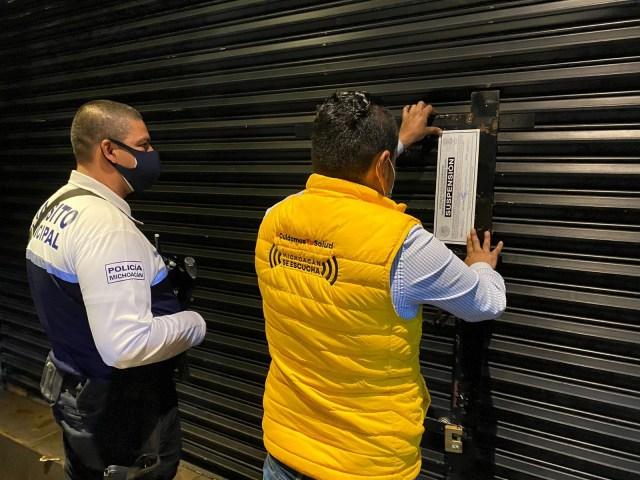 Suspendidos, 3 establecimientos en Uruapan por no acatar medidas anti COVID-19