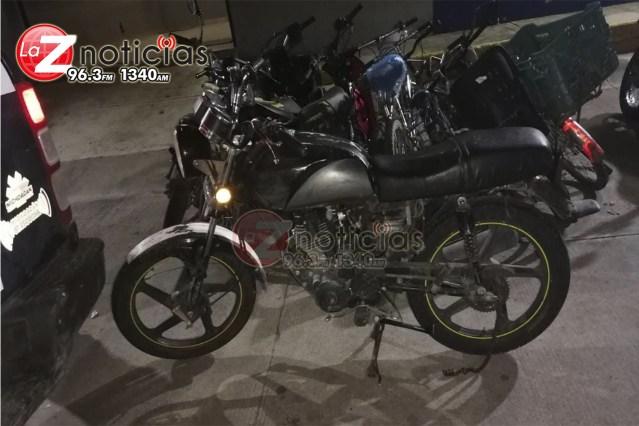 En Sahuayo, recupera SSP motocicleta con reporte de robo