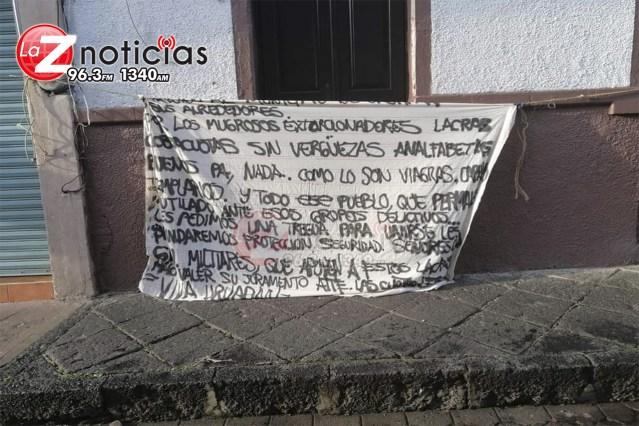CJNG coloca narcomantas en Uruapan
